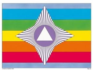 Martinus symbol 42 - Flaggans struktur