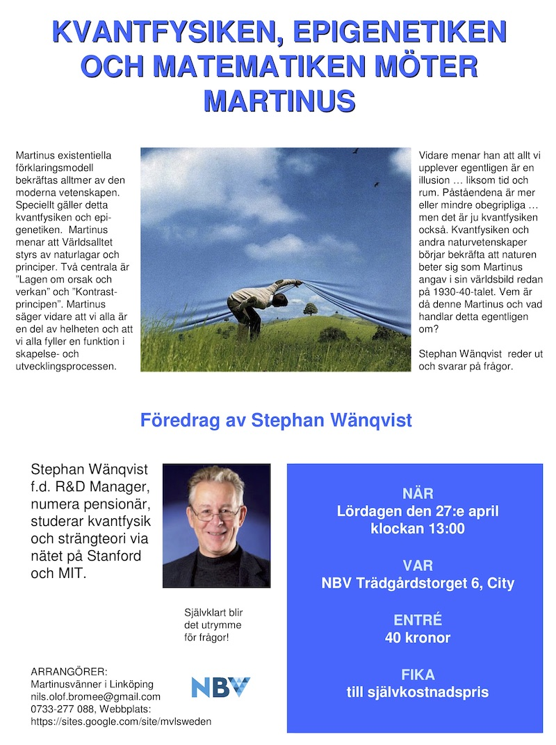 Kvantfysiken, epigenetiken och matematiken möter Martinus